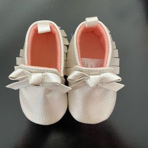 Just for you Carter's baby's moccasins 0-3 M